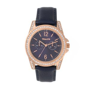Tomato Jaylin Navy rose gold watch