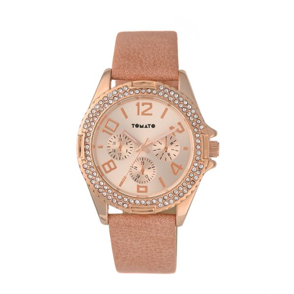 Tomato Coralee Coral Watch Rose Gold